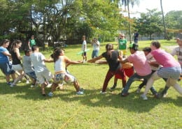Tug of war at sports day at the Holy Family Retreat Centre