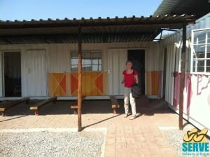 Fiona Henry outside the clinic in Siza