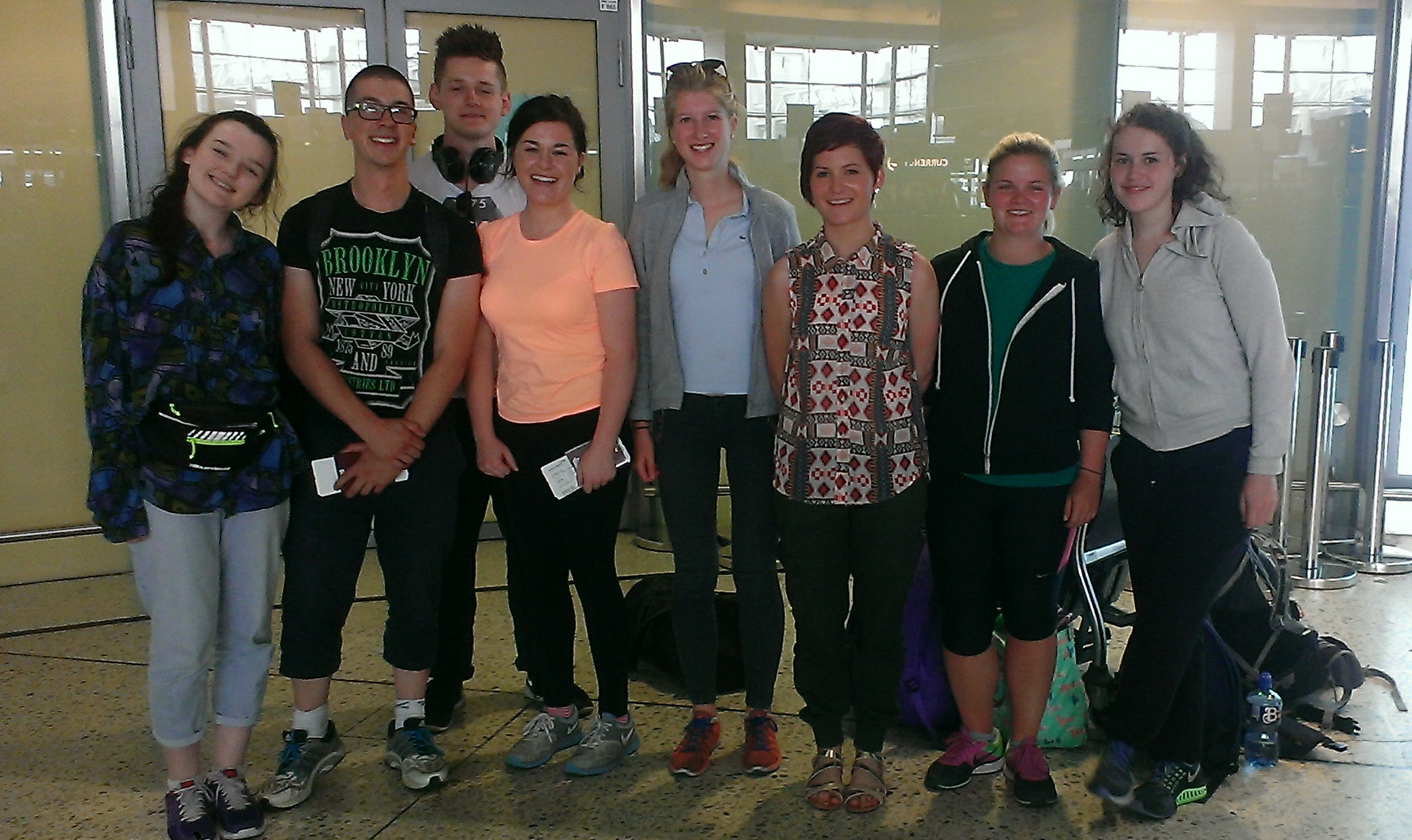 SERVE volunteer group ready for departure to Mozambique
