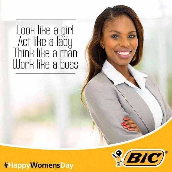 BIC advertisement posted (and subsequently removed) from social media on South African Women's Day