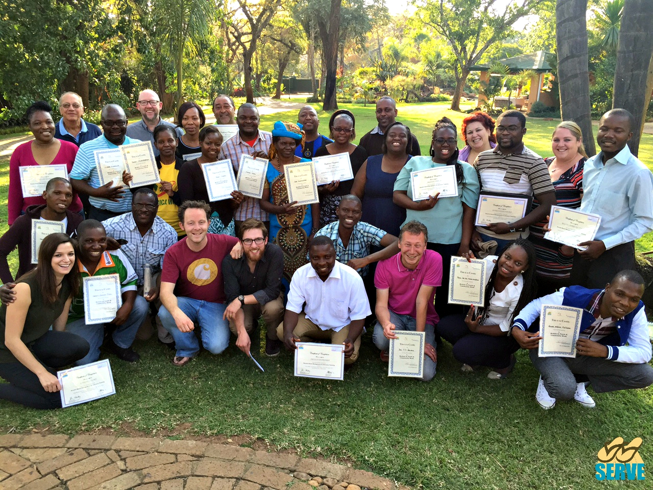 SERVE Development Programme Partners upon completion of Capacity Building Training