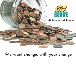 We want change, with your change (1)