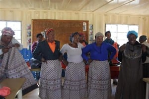 Dressmaking skills training class at Freedom Park