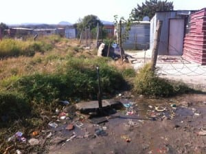 A typical water tap in a squatter camp near Rustenberg, North West Province