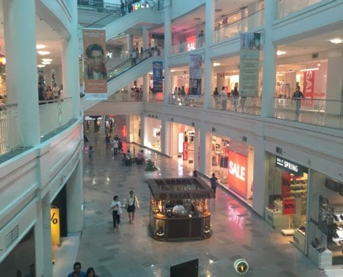 A popular, modern shopping centre situated in Cebu, visited by many its citizens daily. Photo: Aideen McAuley